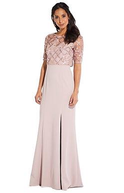 Вечернее платье с кружевным топом