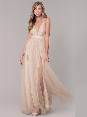 Золотое платье с разрезами