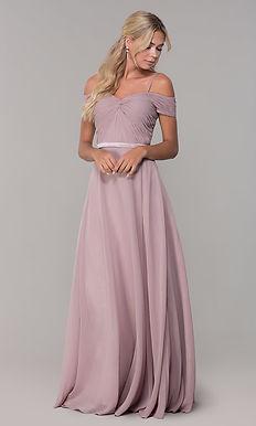 Вечернее платье с драпировкой