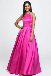 Атласное платье с американской проймой
