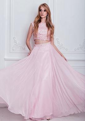 Выпускное раздельное платье