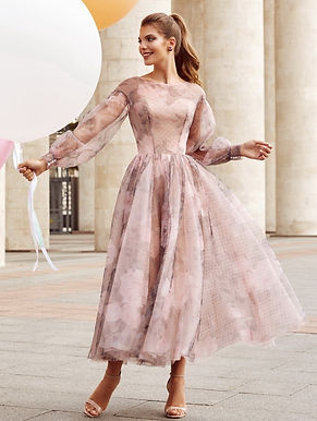 Платье миди с принтом Селини