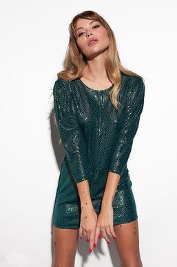 Блестящее мини платье