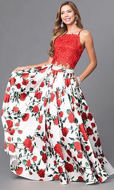 Выпускное платье с розами