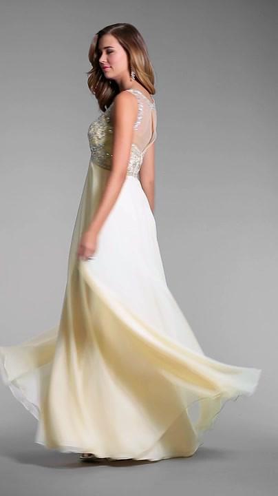 Выпускное платье с завышенной талией