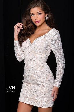 Платье JVN by Jovani 41692 (голубой)