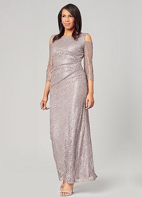 Гипюровое платье с приспущенными плечами