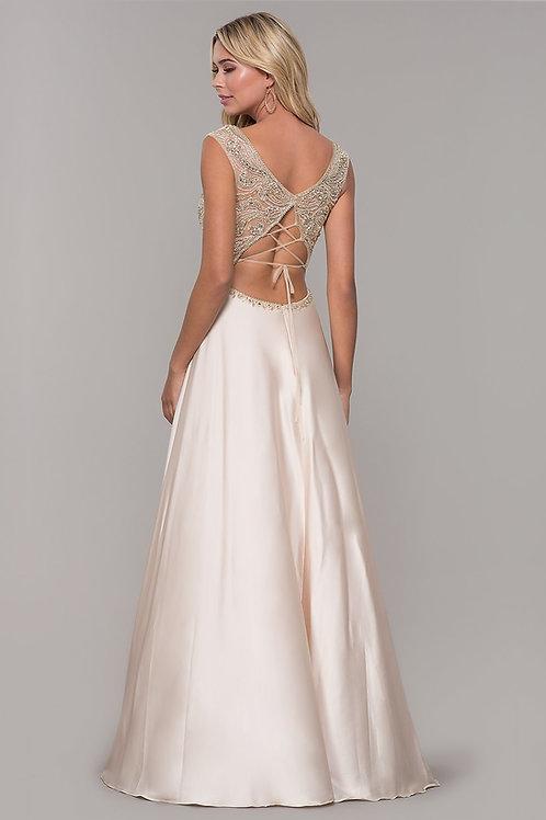 Сатиновое платье с открытой спиной