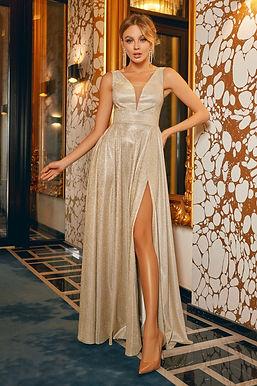 Мерцающее платье в пол