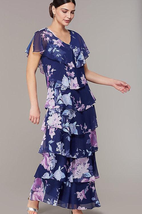 Платье-сарафан с цветочным принтом