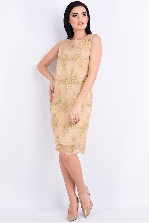 Коктейльное платье прямого кроя