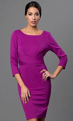 Платье-футляр с рукавами