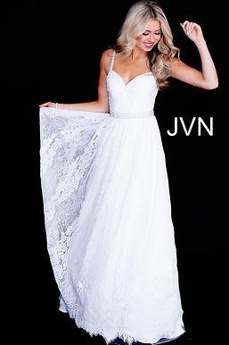 Платье JVN by Jovani 58005 (персиковый)