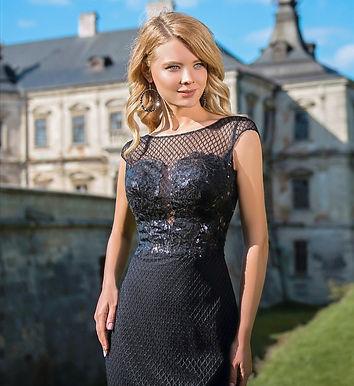 Утонченное коктейльное платье