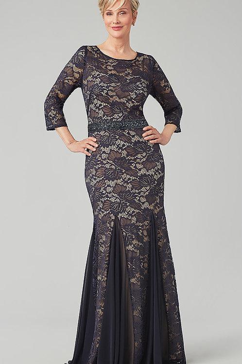 Кружевное платье-годе