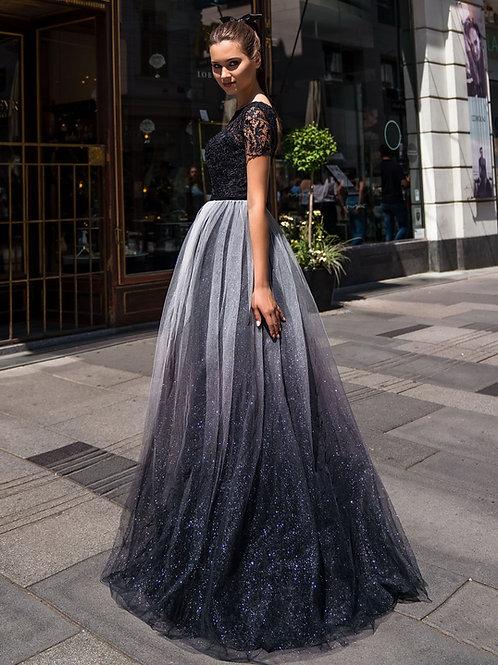 Мерцающее платье омбре