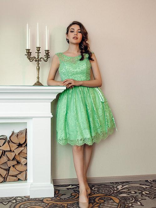 Выпускное платье с бусинами