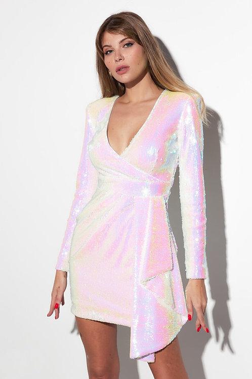 Коктейльное платье в пайетку