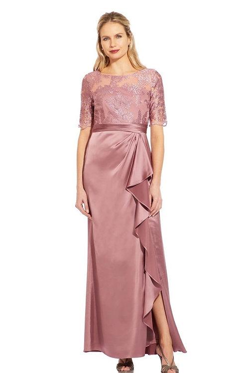 Сатиновое платье с кружевным верхом