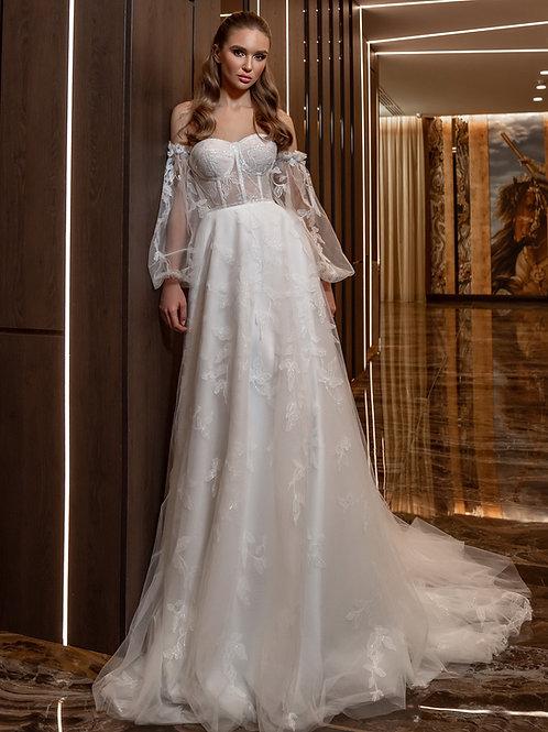 Свадебное платье бюстье Диметра