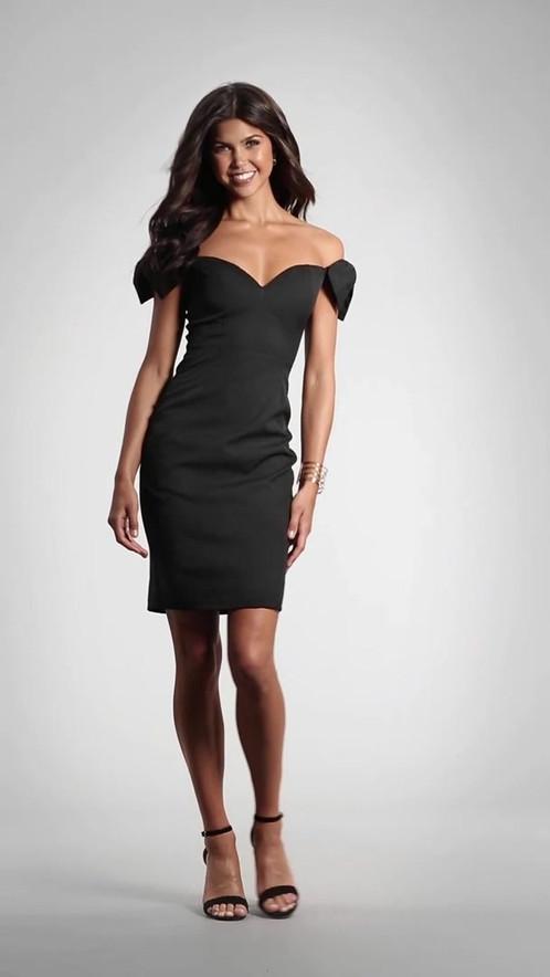 Элегантное вечернее платье с приспущенными рукавами