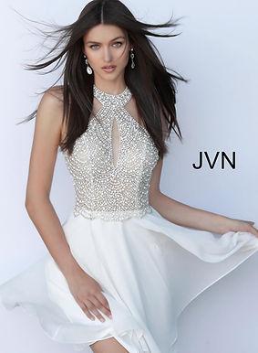 Платье JVN by Jovani 62327 (серый)