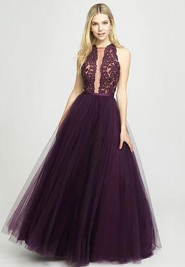 Романтичное платье со вставкой