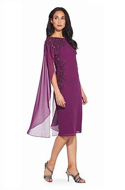 Коктейльное платье с накидкой