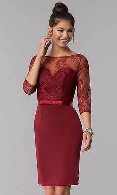 Вечернее платье-футляр с поясом