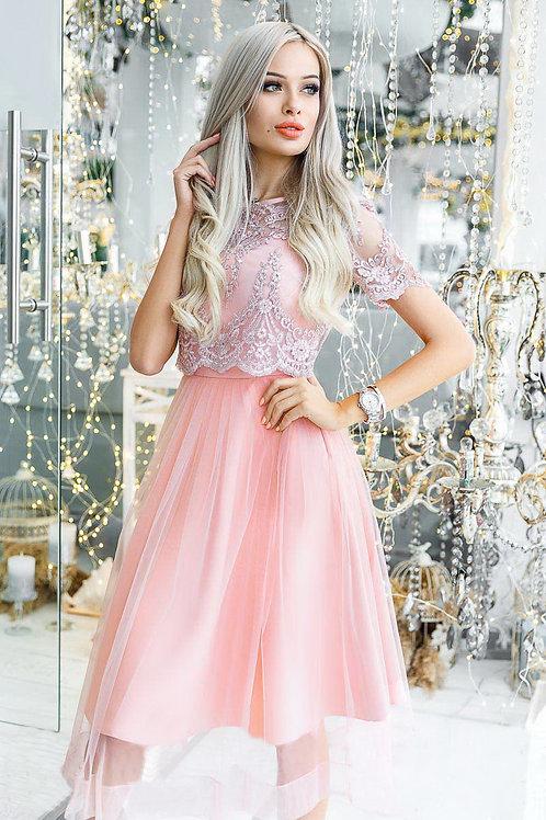 Выпускное платье с топом