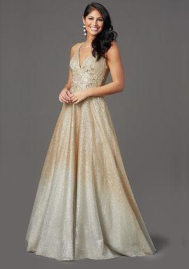 Блестящее платье-омбре Голди