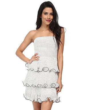 Платье-бюстье в горошек