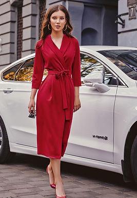 Платье-халат с рукавами