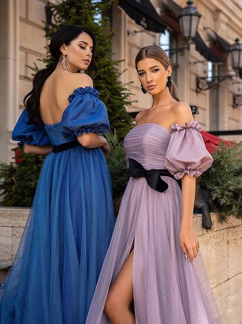 Роскошное платье со съемными рукавами Алекса
