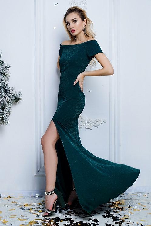 Элегантное вечернее платье с разрезом
