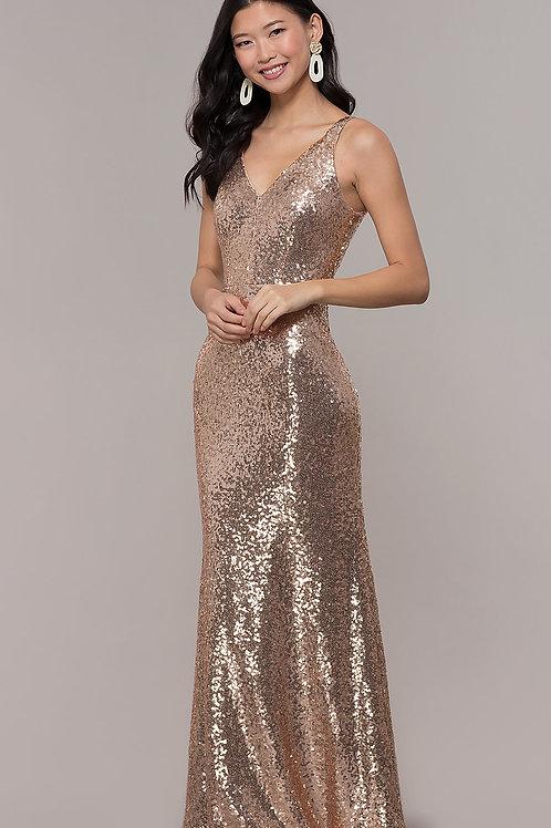 Золотое платье с пайеткой