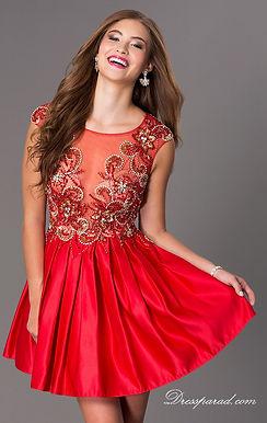 Пышное атласное платье