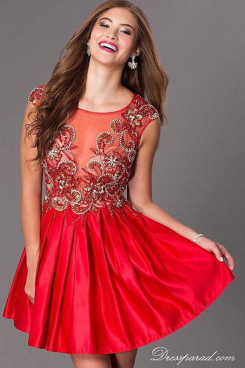 Выпускное атласное платье