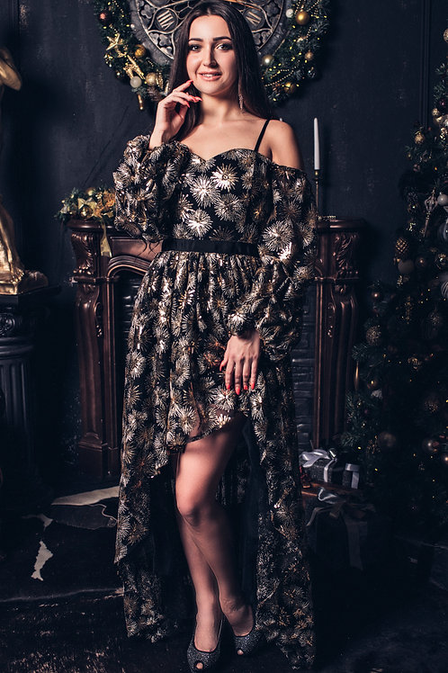 Шикарное платье из пайеток