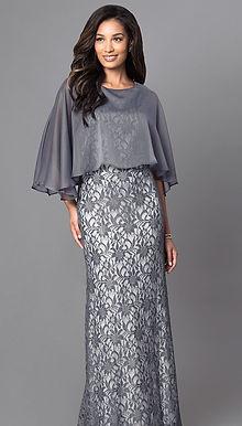 Кружевное платье с накидкой