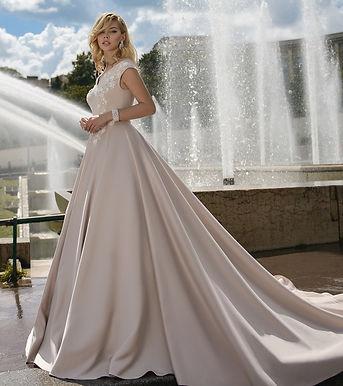 Свадебное платье со шлейфом Шарлиз