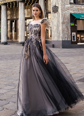 Романтичное платье с перьями