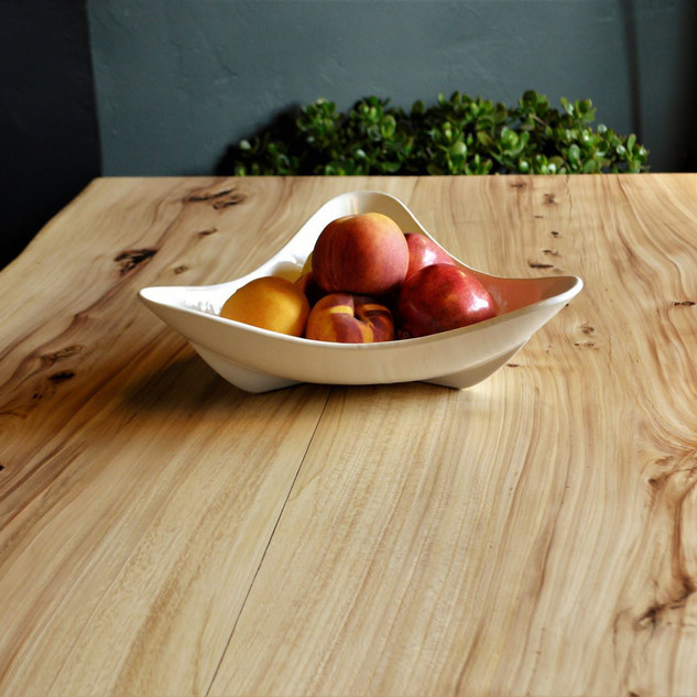 Elm, Black Walnut & Stainless Steel Table