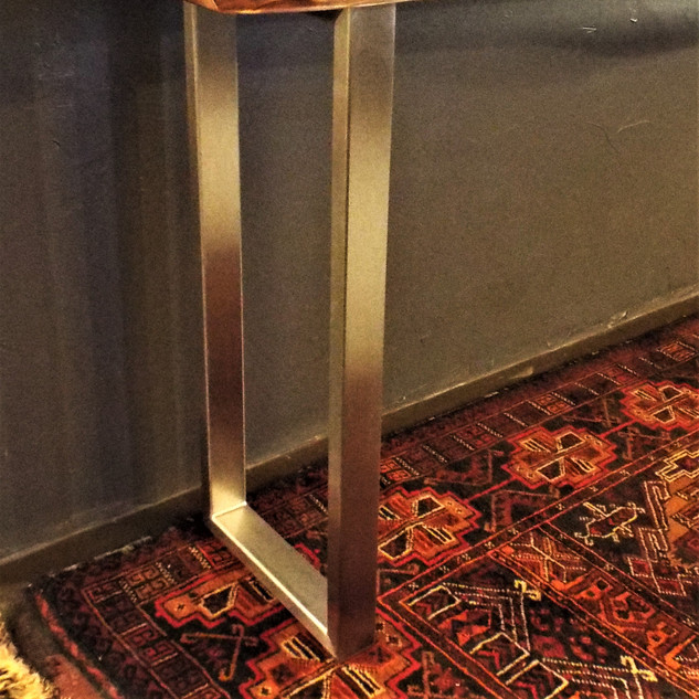 Black Walnut Console Table Stainless Ste