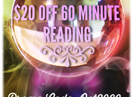 Treat Yourself To A 60 Minute Reading & Get $20 Off 🍭