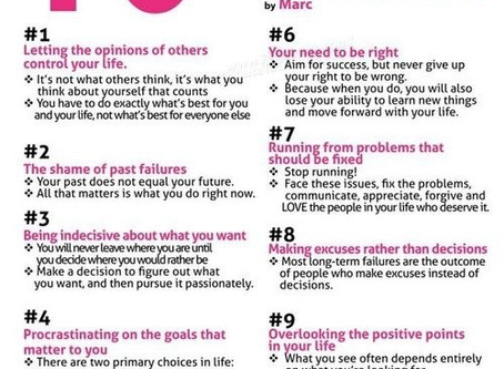 10 Things You Must Give Up To Move Forward