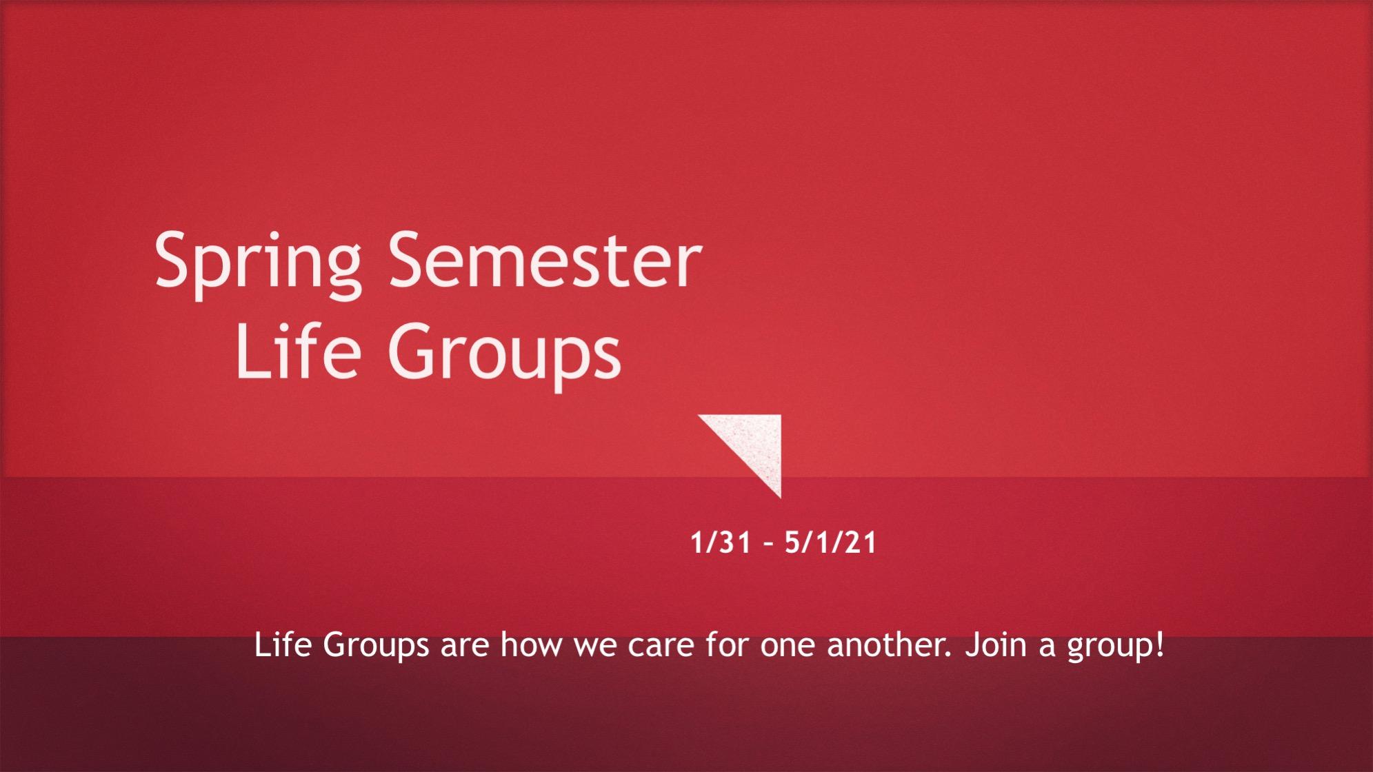 Life Groups 2021