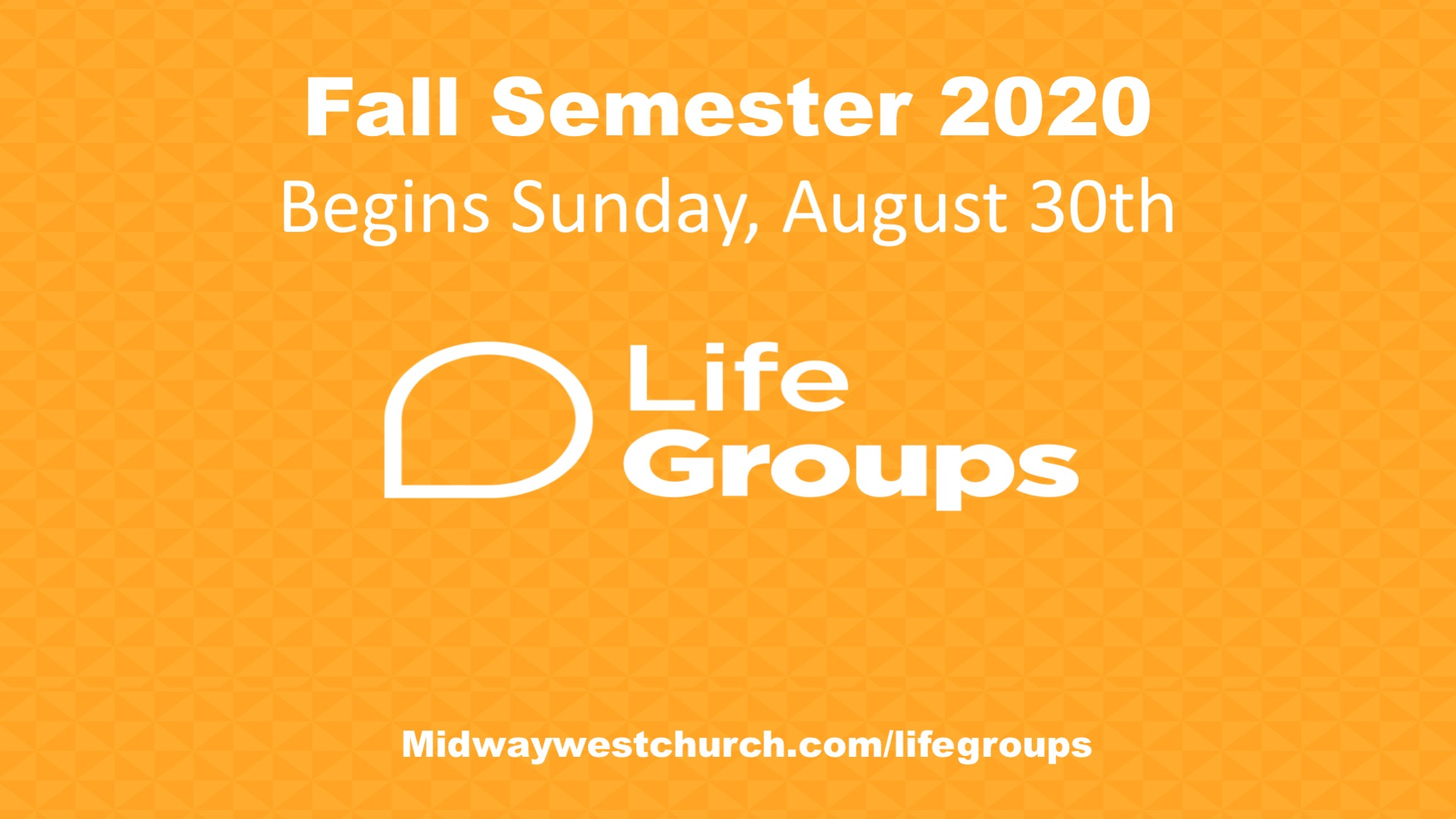 Life Group Semister 2020
