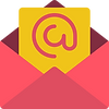 Standard email icon.  An envelope with the @ symbol in it.