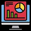 A desktop monitor showing a graph report.
